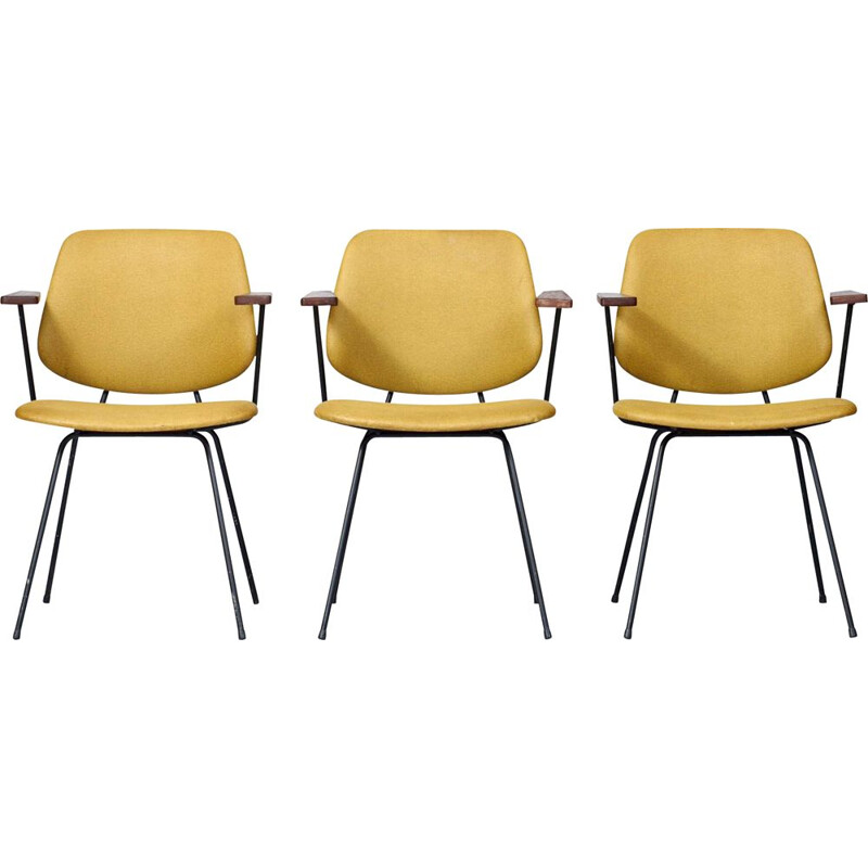 Set of 3 vintage Dining Chairs Rietveld for Kembo