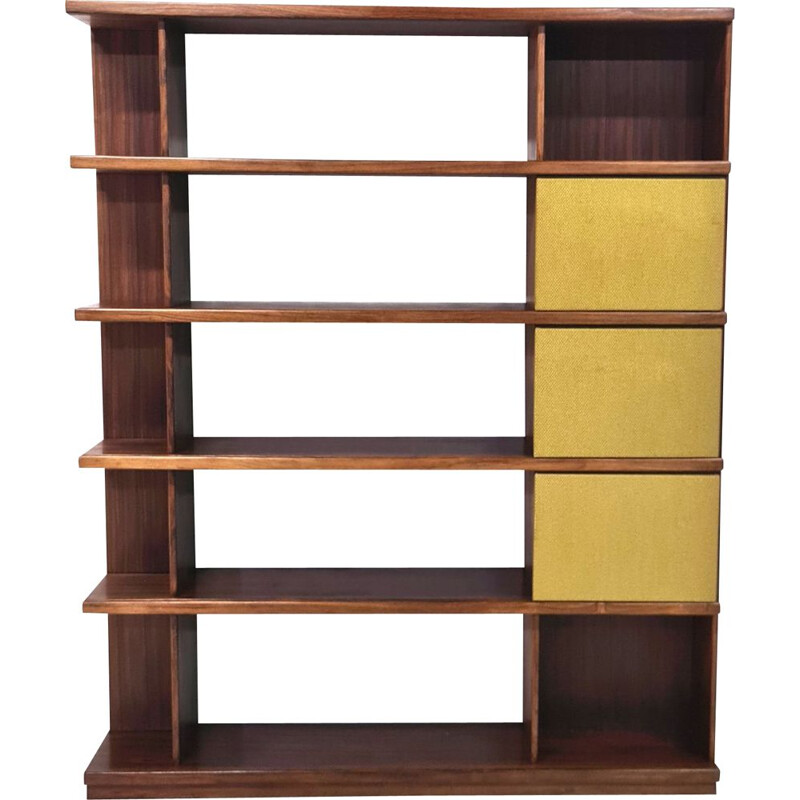 Vintage rosewood bookcase by Ilmari Tapiovaara for Moblli Cantu, Italy 1950s