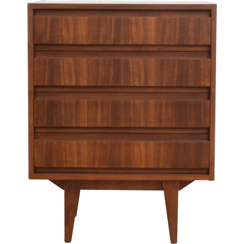 Vintage Walnut Chest of Drawers from Friedrich Fandwehr Möbelfabrik, German 1950s