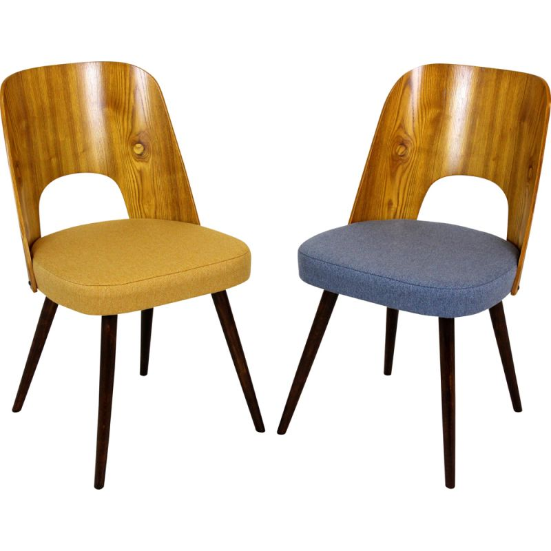 Pair of vintage Dining Chairs by Oswald Haerdtl for Tatra, Czechoslovakia 1960s