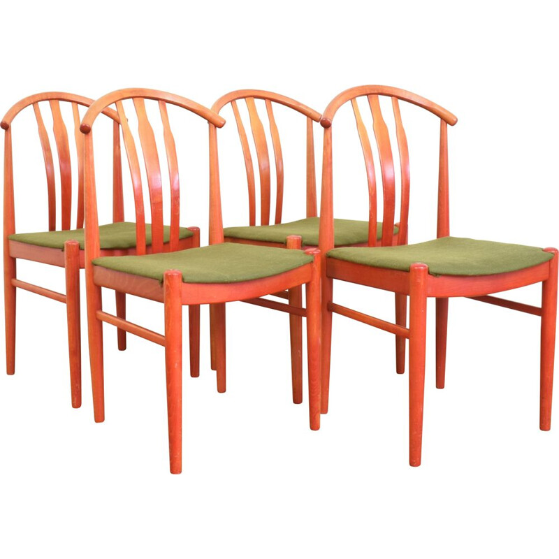 Set of 4 Dining Chairs by C. Ekström for A. Johansson & S. Hyssna, Swedish 1960s