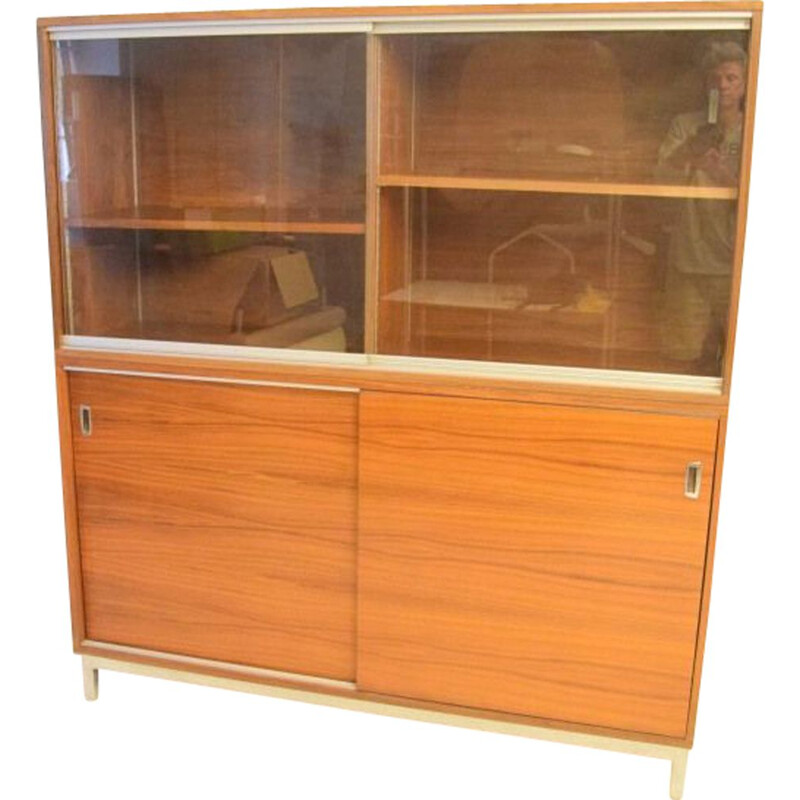 Vintage Desk Bookcase sideboard by Georges Frydman 1960s