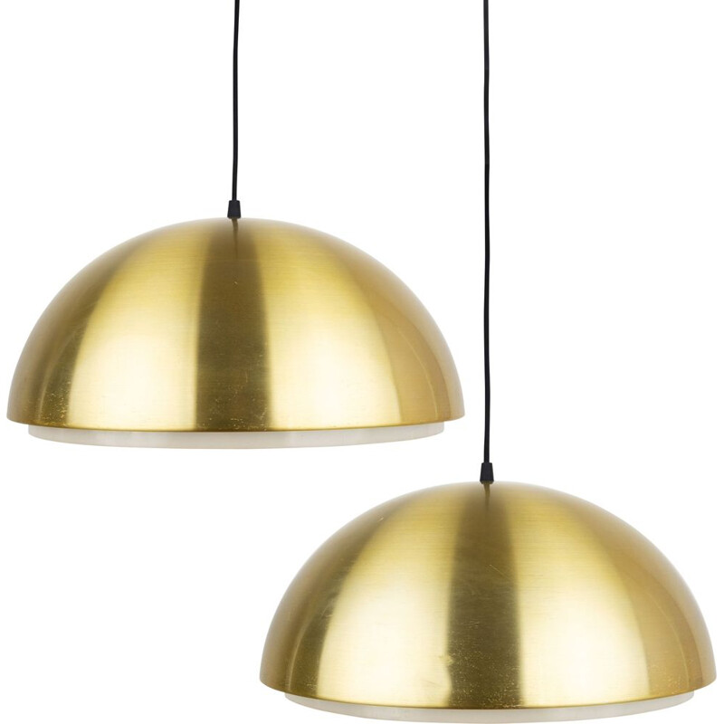 Pair of vintage pendant lamps by Vilhelm Wohlert & Louis Poulsen for Louisiana museum, Danish 1950s