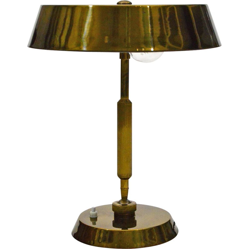 Vintage Brass Desk Lamp to Stilnovo, Italian 1950s