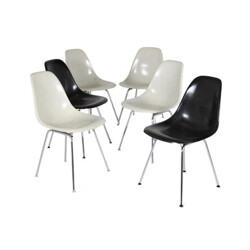 Set of 6 DSX chairs, Charles & Ray EAMES - 1960s