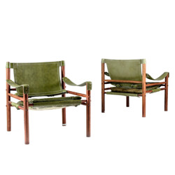 """Pair of """"Sirocco"""" armchairs, Arne NORELL - 1960s"""