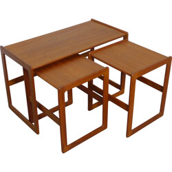 Set of three Mogens Kold nesting tables, Arne HOVMAND-OLSEN - 1960s