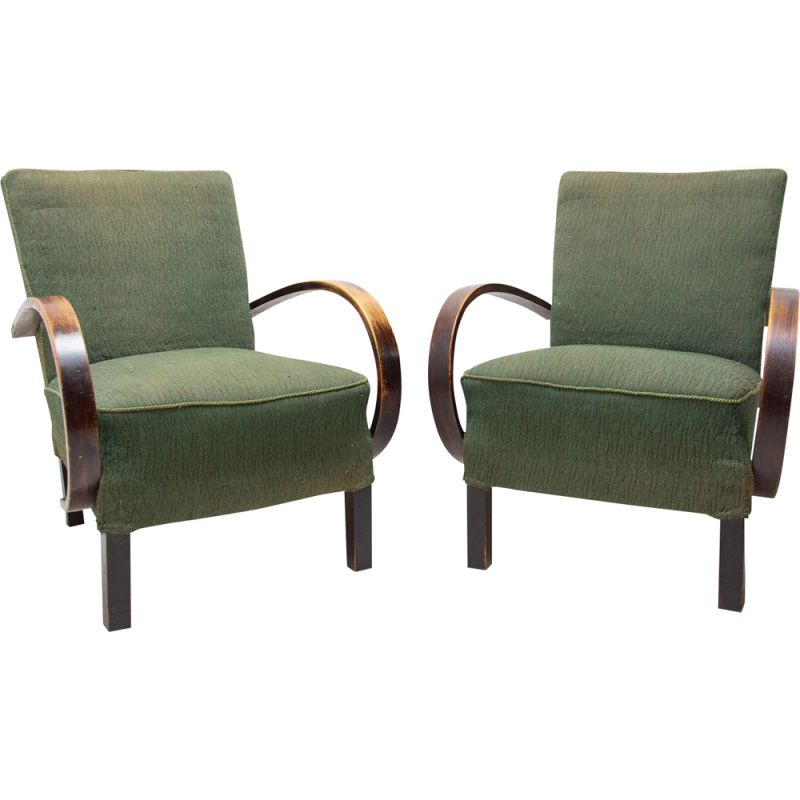 Vintage Bentwood armchairs by Jindřich Halabala for UP Závody 1950s