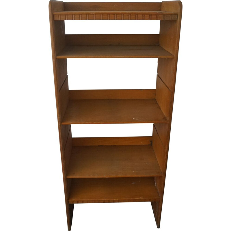 Vintage Patinated Pine Bookcase by Martin Nyrop for Rud Rasmussen, Danish 1900s