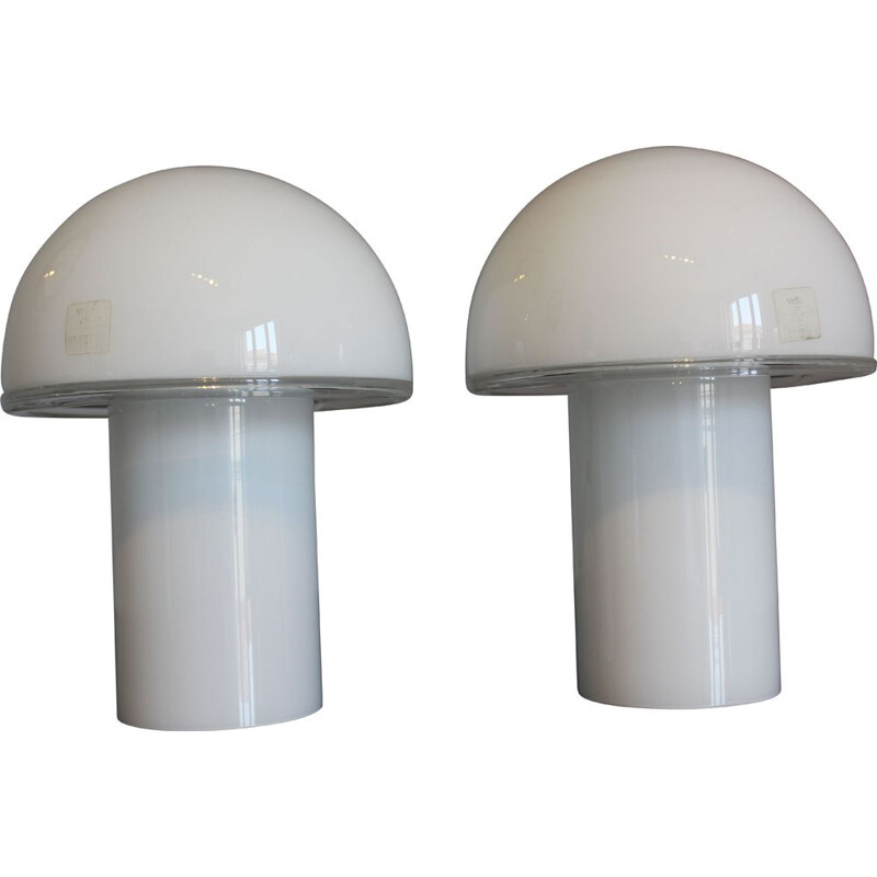 Pair of vintage Onfale table lamps by Luciano Vistosi for Artemide 1970s