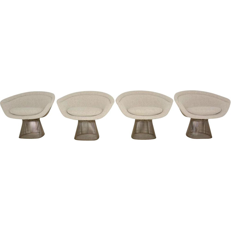 Set of 4 vintage lounge chairs by Warren Platner 1960s