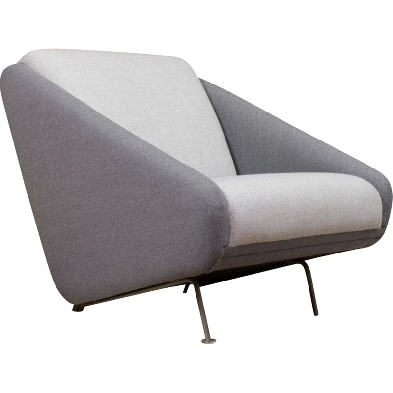 Vintage club chair grey by Theo Ruth for Artifort 1958s