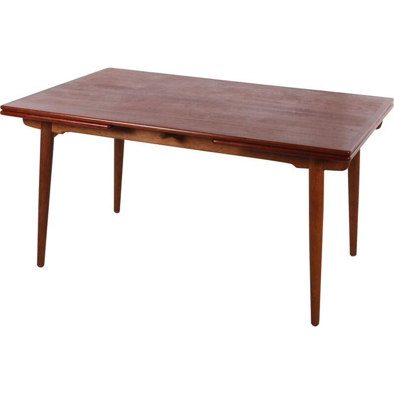 Vintage XL Teak dining table by Hans J Wegner by A. Tuck 1950s