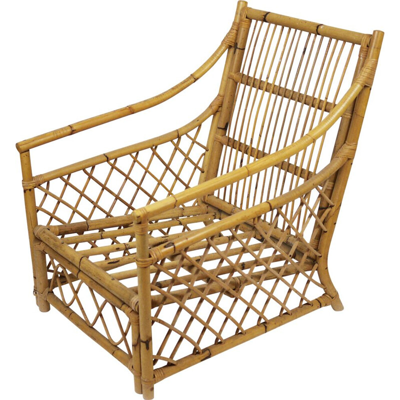 Vintage Bamboo Armchair 1960s