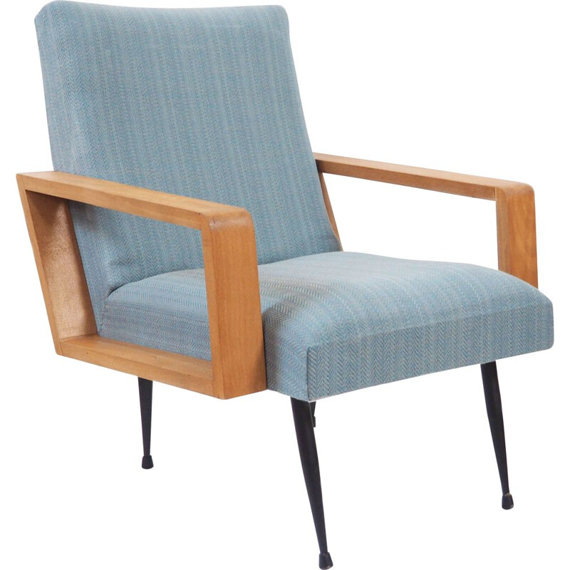 Vintage armchair with iron legs from 1950s