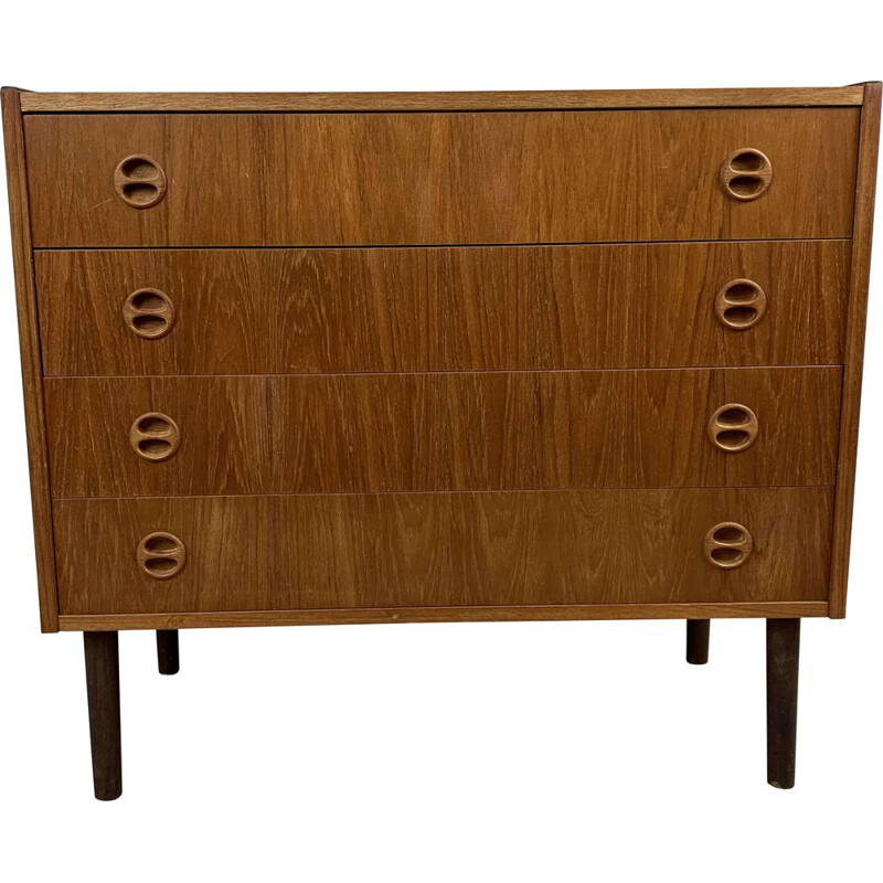 Vintage teak chest of drawers, Scandinavian 1960s