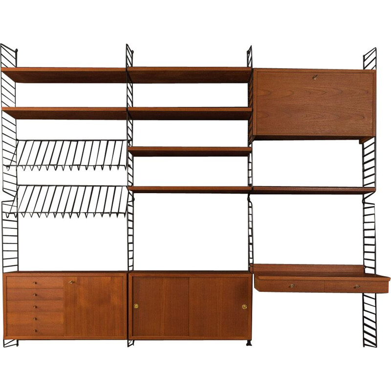 Vintage Wall Unit by Nils Strinning 1950s