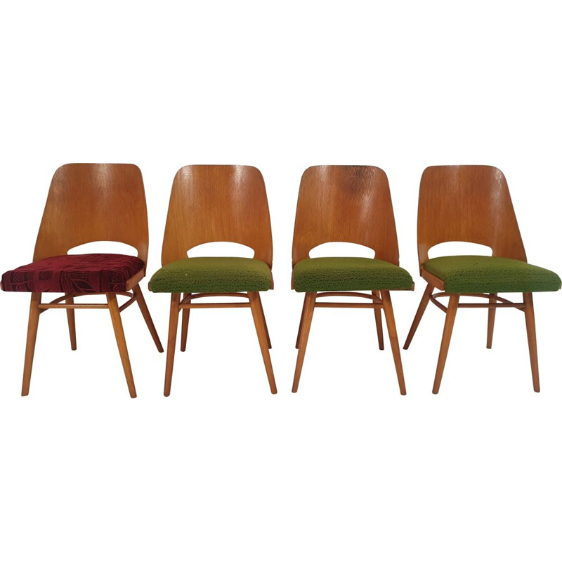 Set of 4 vintage Dining Chairs by Oswald Haerdtl 1960s