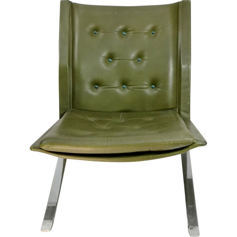 Vintage hand made steel chair 1960s
