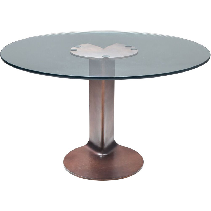 Vintage Bronze Table TL59 by Afra & Tobia Scarpa for Poggi 1970