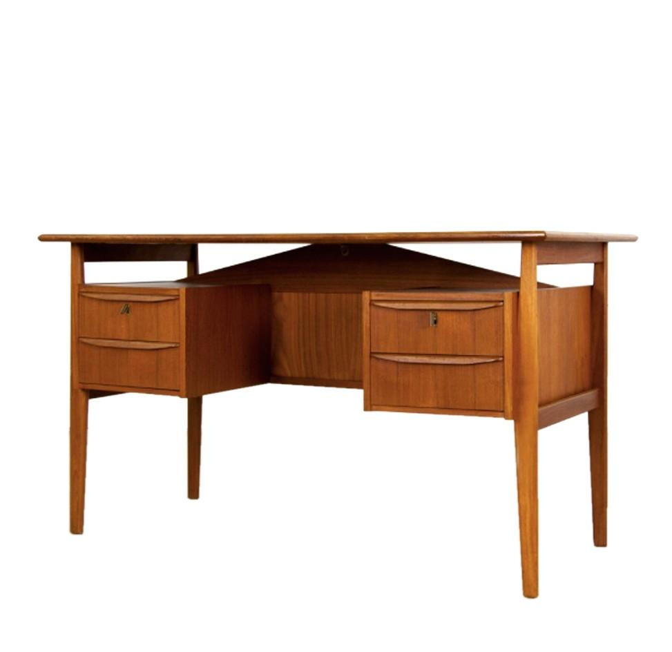 danish desk in teak gunnar nielsen tibergaard  s  design market - scandinavian desk in teak wood gunnar nielsen tibergaard