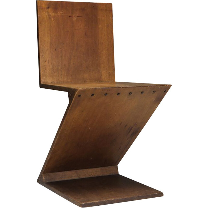 Vintage Zig-Zag Chair by G. Rietveld 1932s