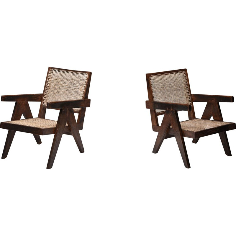 Vintage armchairs by Pierre Jeanneret, India 1960s