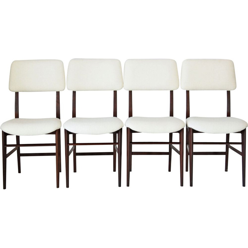 Set of 4 vintage dining chairs by Vittorio Dassi, Italian 1960s