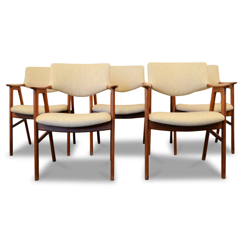 Set of 4 Hong Stolefabrik armchairs in teak, Erik KIRKEGAARD - 1960s
