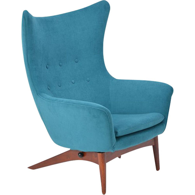 Vintage reclining chair by Henry Walter Klein, Danish
