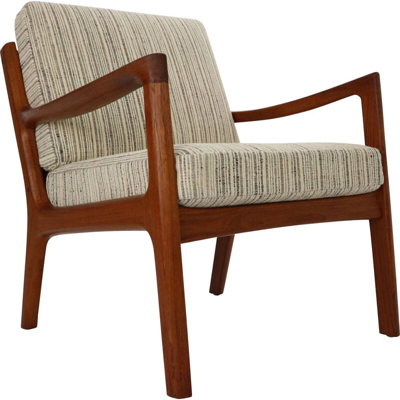 Vintage lounge chair by Ole Wanscher for France & Son, Denmark 1956s