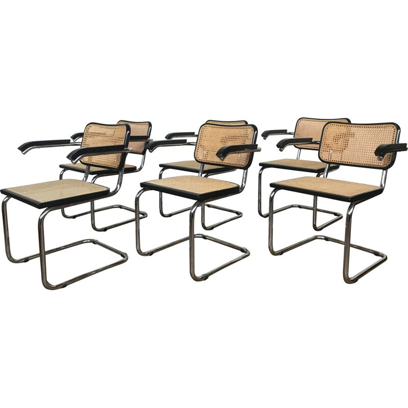 Set of 6 vintage s64 chairs by Marcel breuer, Italy 1970s