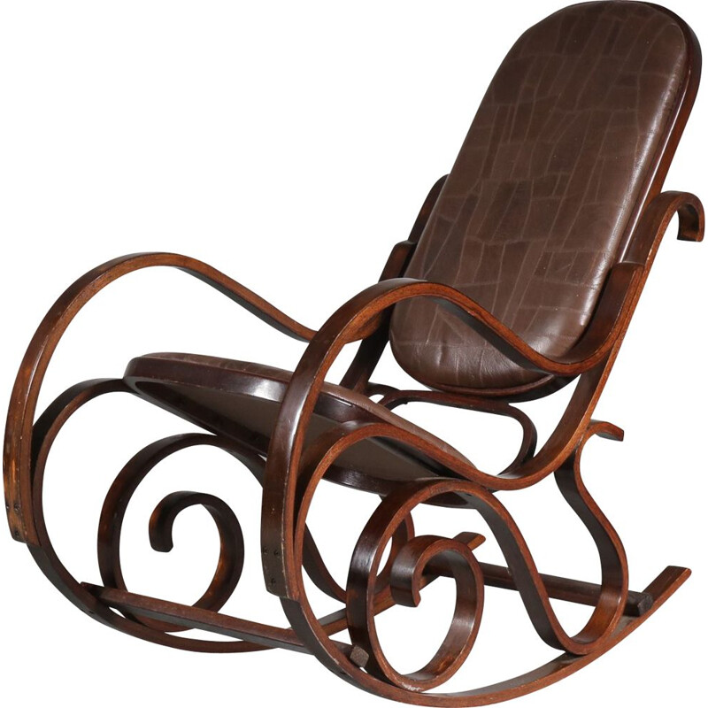 Vintage Rocking chair by Luigi Crassevig, Italy 1970s