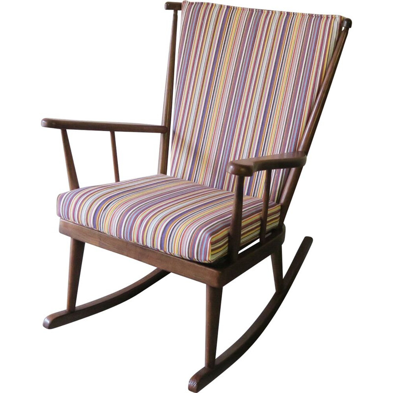 Vintage Rocking-chair Baumann 1950s