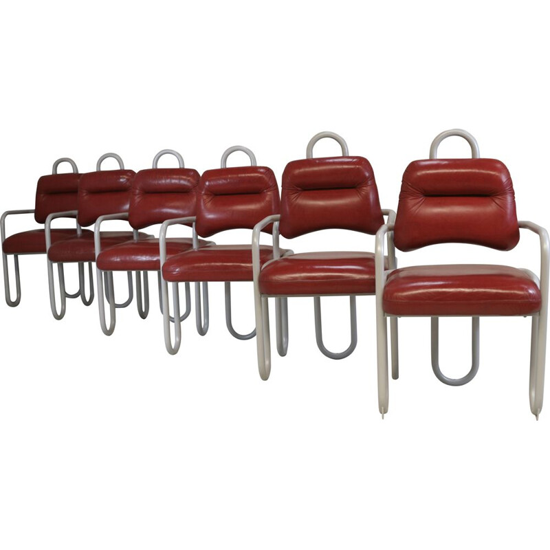 Set of 6 vintage chairs by Kwok Hoi Chan Steiner edition, France 1970s