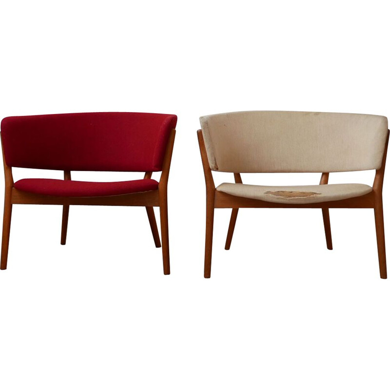 Pair of vintage ND-83 armchairs by Nanna Ditzel, Denmark 1952