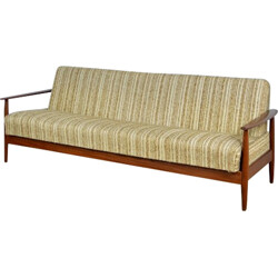 Convertible Scandinavian sofa in teak - 1960s