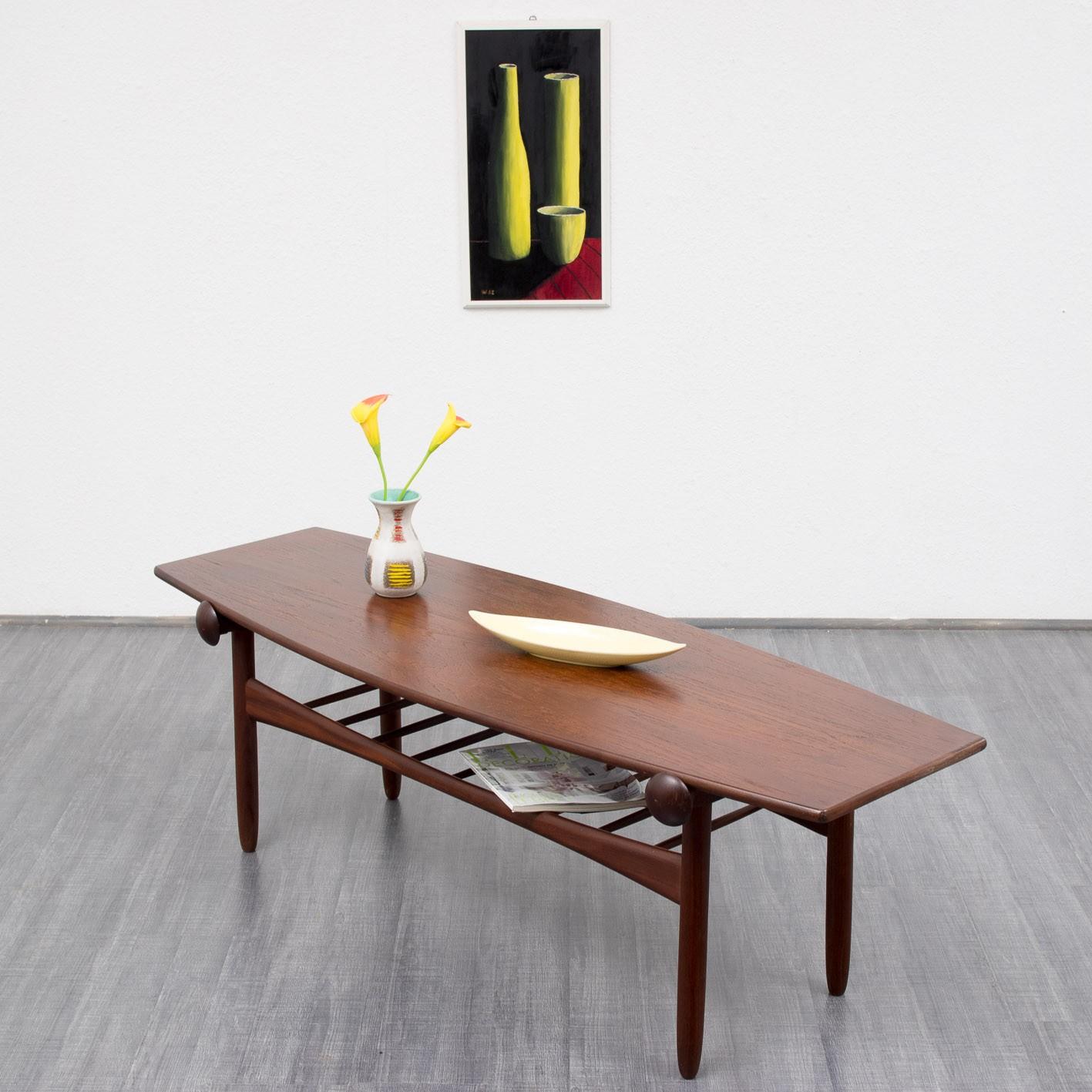 Scandinavian teak coffee table 1960s Design Market
