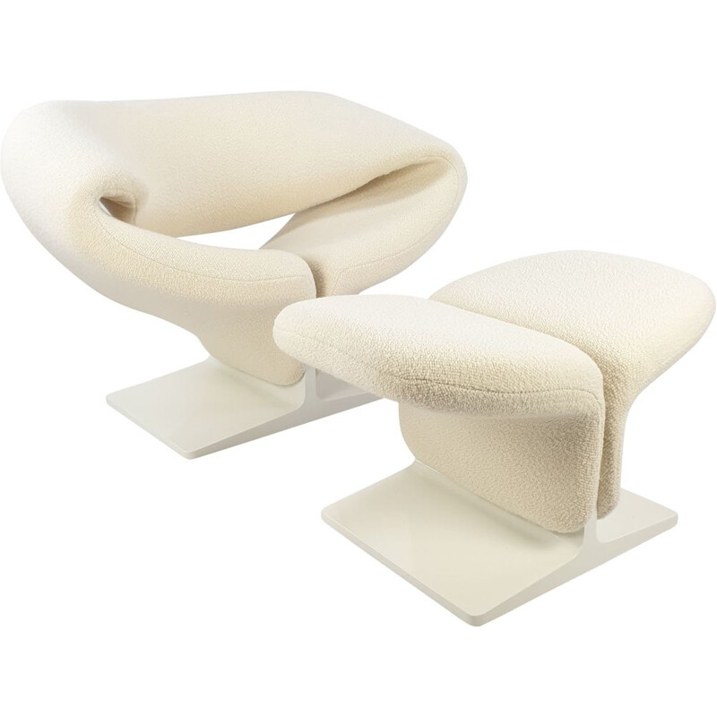 Vintage Ribbon Chair and Ottoman by Pierre Paulin for Artifort 1960s