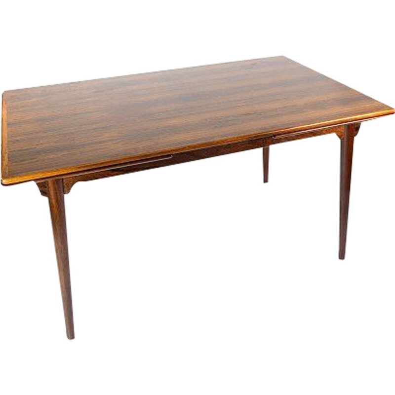 Vintage rosewood Dining table with extensions by Arne Vodder 1960s