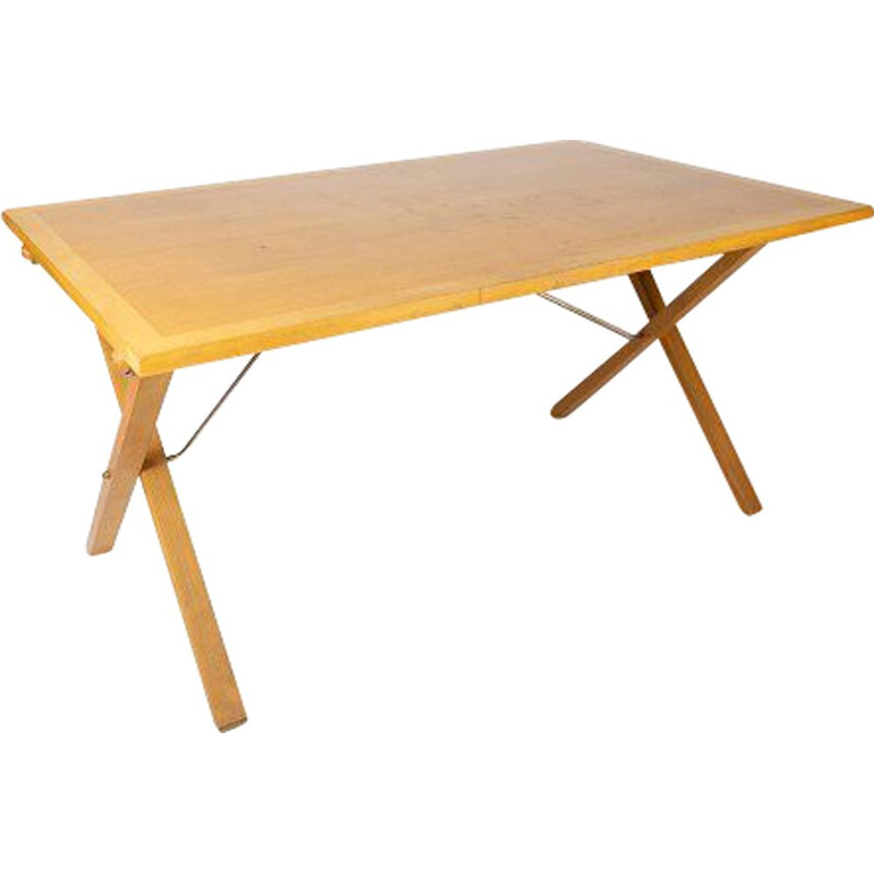 Vintage table in light wood by Poul Cadovius, 1960s