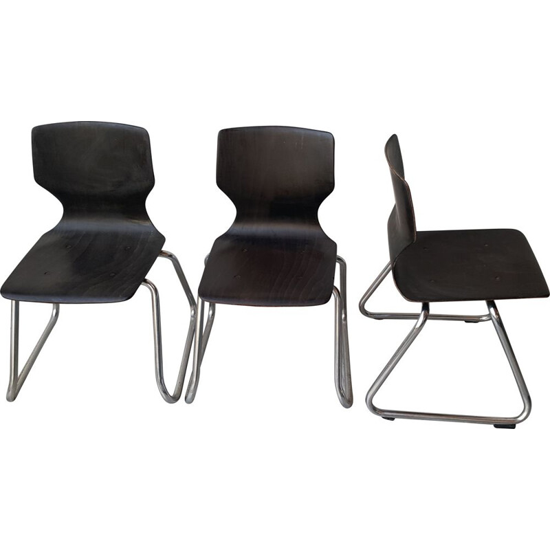 Set of 3 vintage Children's Chair by Elmar Flötotto for Pagholz