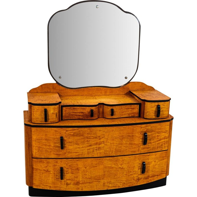 Vintage Dressing Table by Jindrich Halabala for UP Závody 1950s