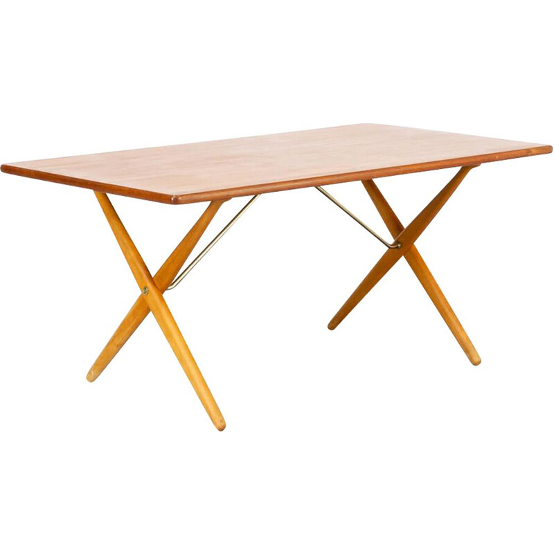 "Vintage ""AT-303"" dining table by Hans J. Wegner for Andreas Tuck, Danish 1960s"