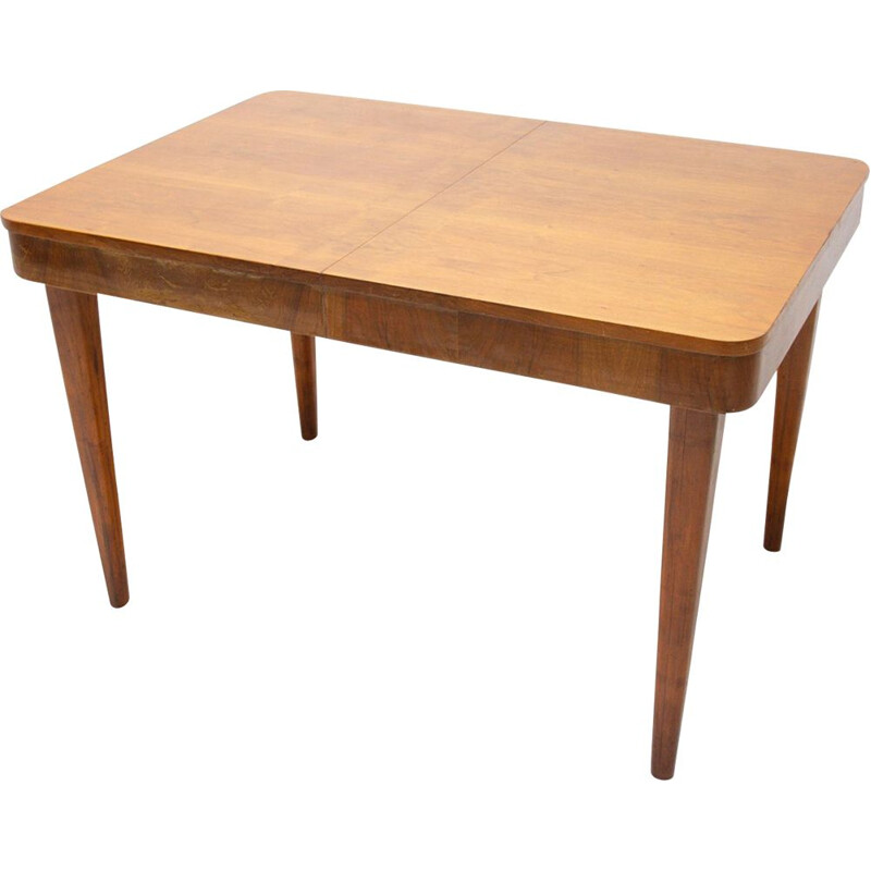 Vintage adjustable Dining Table by Jindřich Halabala, Czechoslovakia 1950s