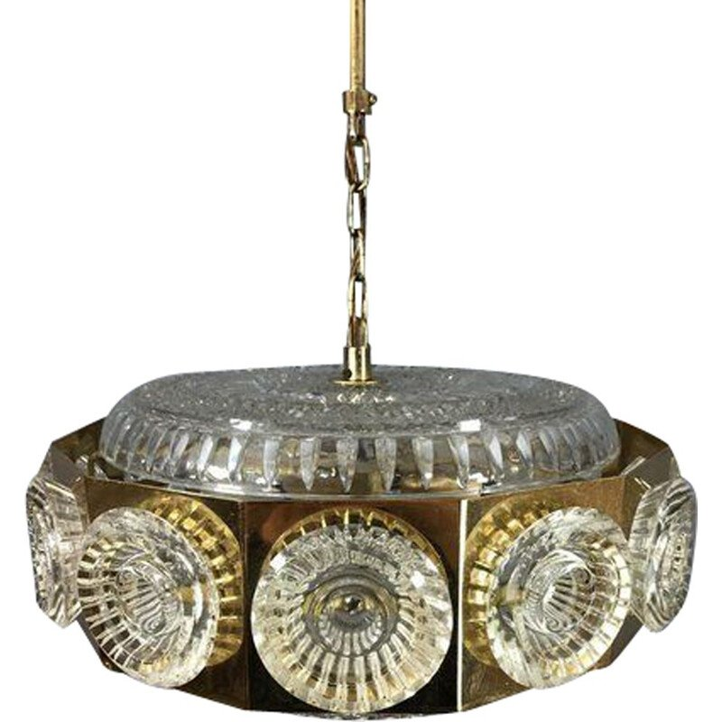 Vintage Chandelier by Carl Fagerlund for Orrefors 1960s