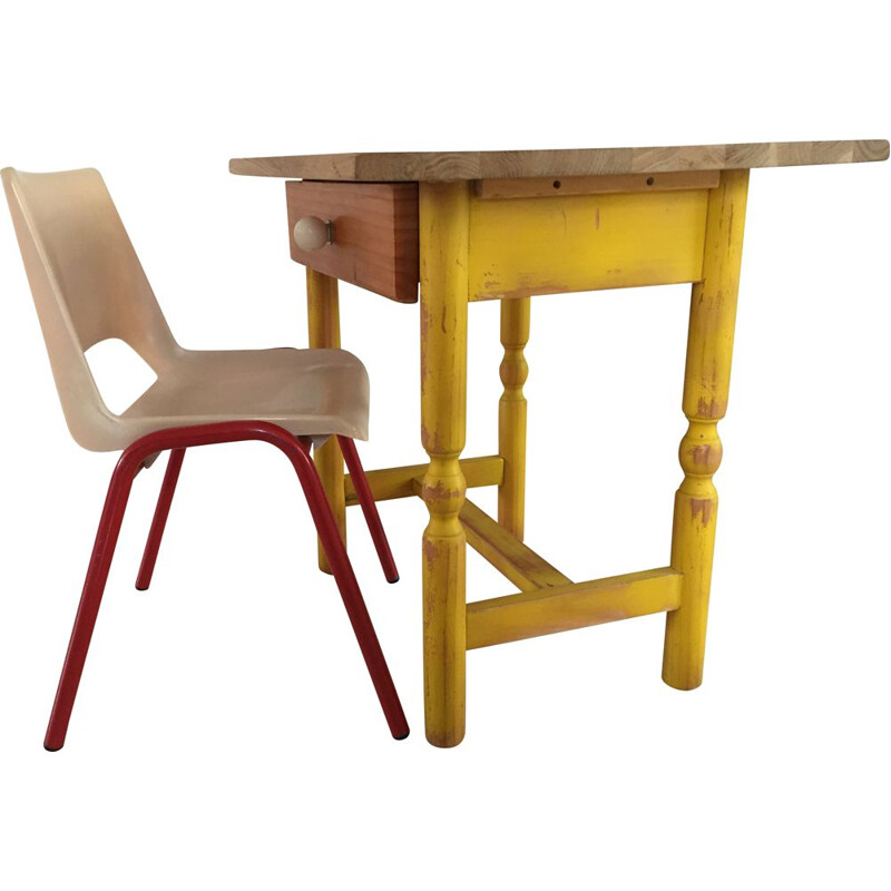 Small vintage desk and chair for children