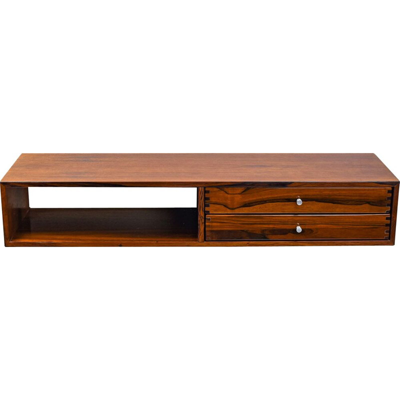 Lagre vintage wall console 132 in rosewood by Kai Kristiansen, Denmark 1950s