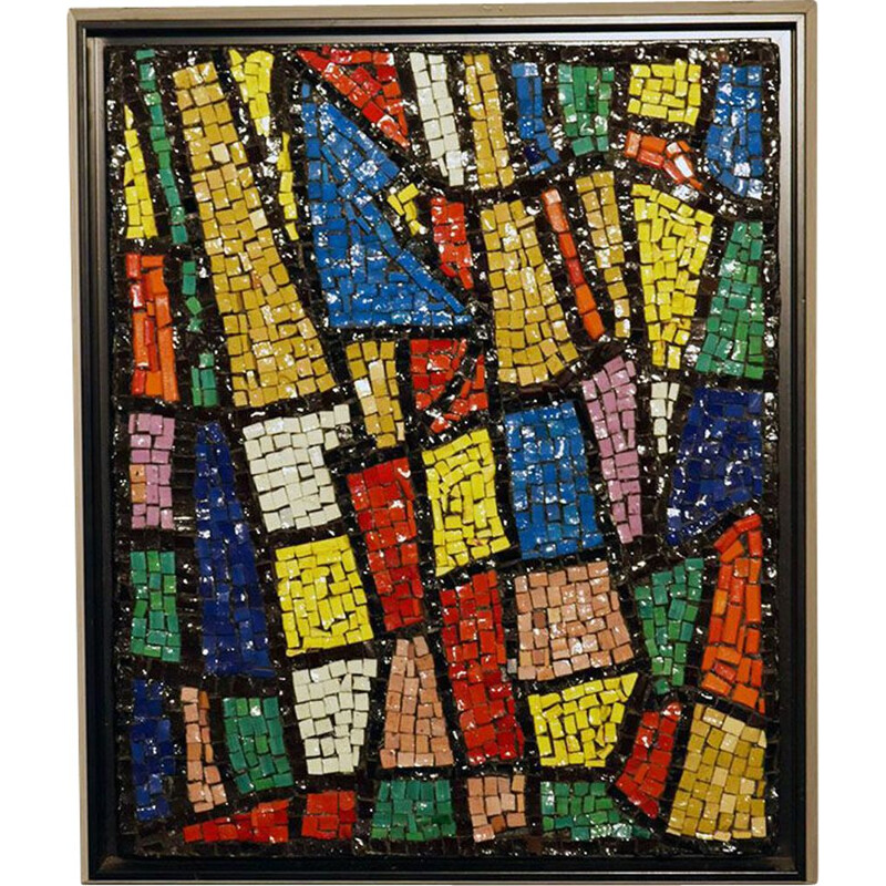 Vintage Glass mosaic wall panel, Italian 1960s