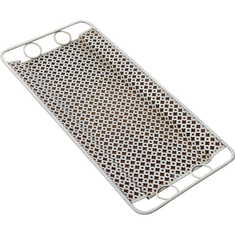 Vintage perforated tray by Mathieu Mategot for Artimeta 1950